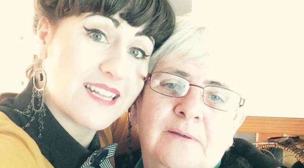 Brought to book: Julie Comiskey with her mum Gemma Savage