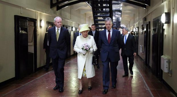 Changed times: the Queen visited Crumlin Road gaol with Peter Robinson and Martin McGuinness