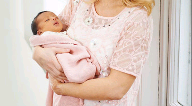 So busy: Katie Piper with her daughter Belle