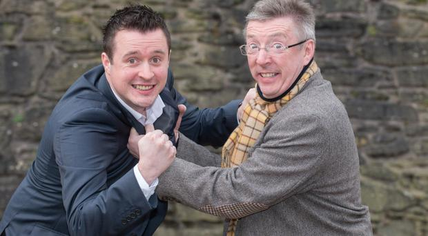 Getting to grips: Conal and Rory Gallen enjoy writing scripts together