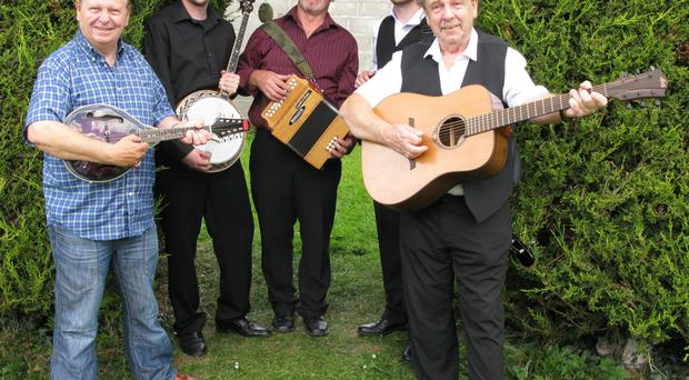 Musical maestros: from left, Eddie Furey, Ger Lord, Camillus Hiney, Aidan Guilfoyle and George Furey