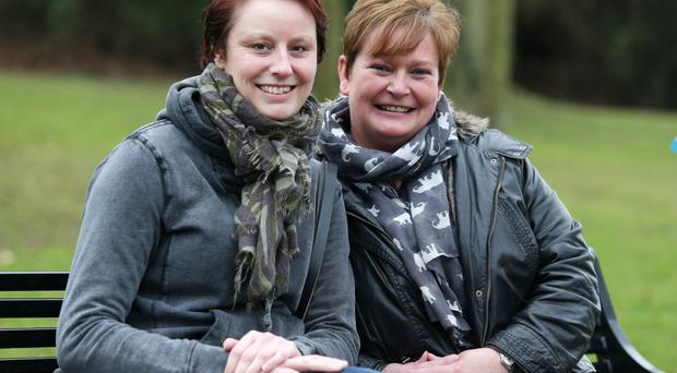 There for her: when Nina Cristinacce (left) felt she couldn't continue her fight with breast cancer, Ali Campbell provided vital encouragement