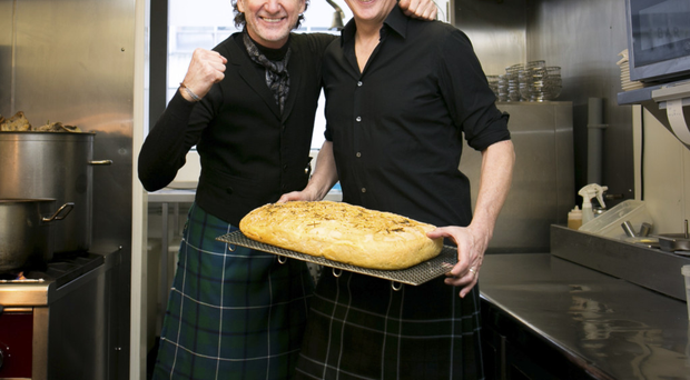 Tartan twosome: Paul Rankin and Nick Nairn's new show explores the food heritage of Scotland and Northern Ireland