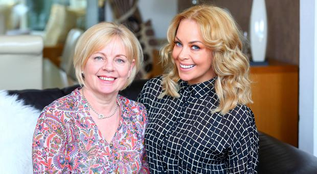 Young at heart: former Miss Great Britain Gemma Garrett with her mother Margaret