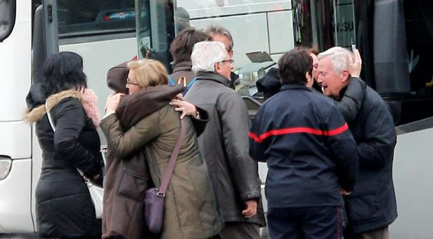 Unbearable grief: relatives of passengers on board Flight 4U 9525 break down at the loss of their loved ones
