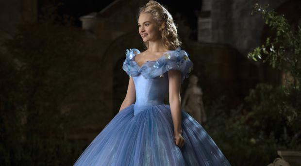 Fairytale ending: Lily James as Cinderella in the latest film version of the classic fable