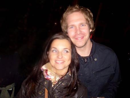 Sweet music: Neil Robinson with his wife Lian