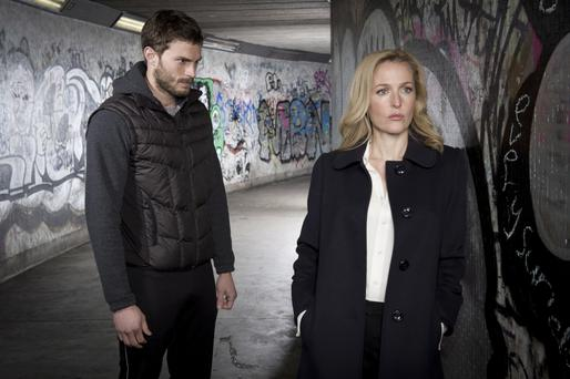 Role play: Jamie Dornan has admitted he stalked a woman on the underground for his part in The Fall, alongside Gillian Anderson
