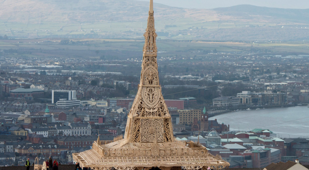 Letting go: David Best's Temple art project was burned in Londonderry as a symbol of healing
