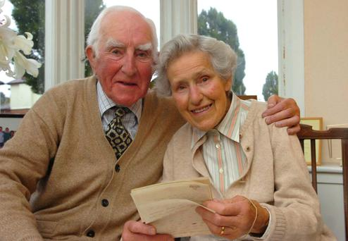 Building bridges: Rev Dr Ray Davey, founder of the Corrymeela, with his wife Kathleen