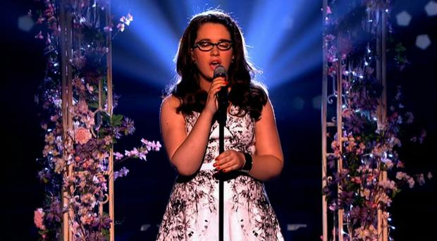Andrea Begley appearing on BBC1's The Voice