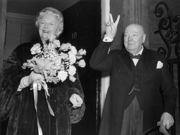 Power couple: Winston Churchill with his wife Clementine