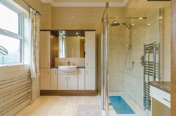 Opulent living: The bathroom comes with a shower and steam cubicle