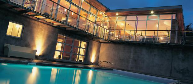 The heated swimming pool is an indulgent luxury