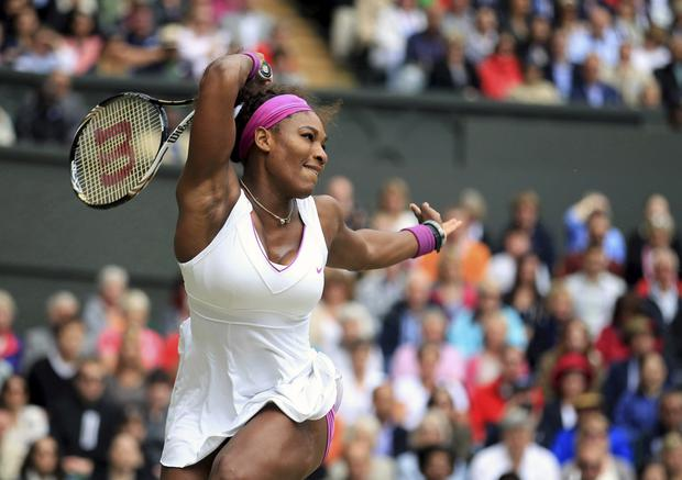 Sister act: Serena Williams, along with her sister Venus, has dominated the women's game for more than a decade