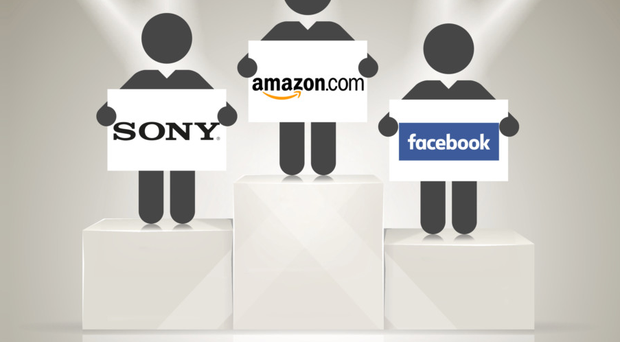 Gold standard: Amazon finished ahead of its online rivals in the first Digital Brand Risk Index