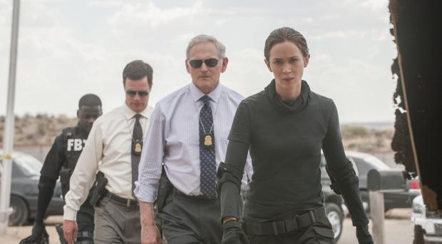 Battle ground: Emily Blunt plays a weapons and tactics expert working with the Bureau