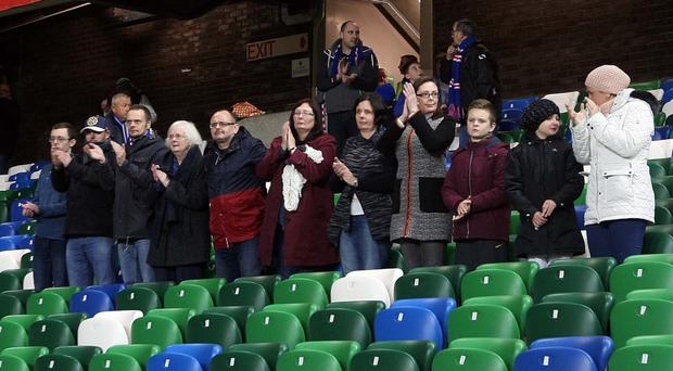 Moving gesture: David's family thanking everyone at Linfield for all their help and support