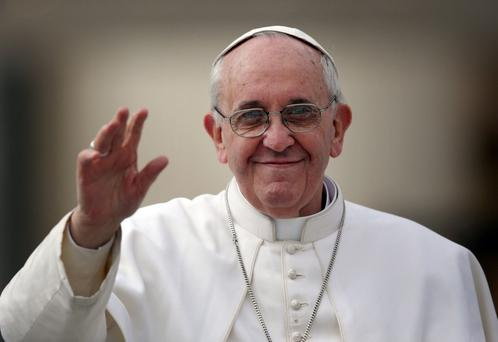 Warm welcome: Pope Francis would get a good reception if he travelled to Northern Ireland