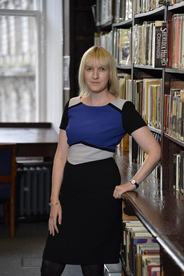 Press Eye - Belfast - Northern Ireland - 19th October 2015 Senior Librarian Samantha McCombe pictured at the Linenhall library in Belfast.. Picture by Stephen Hamilton/Press Eye.com