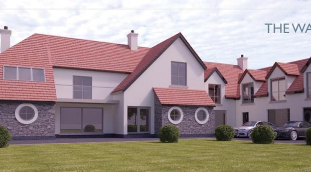 The house has spectacular views over the Irish Sea and sits on one of North Down's most prestigious roads