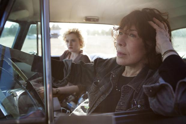Car trouble: Lily Tomlin and her screen granddaughter Julia Garner on the road to nowhere in Grandma