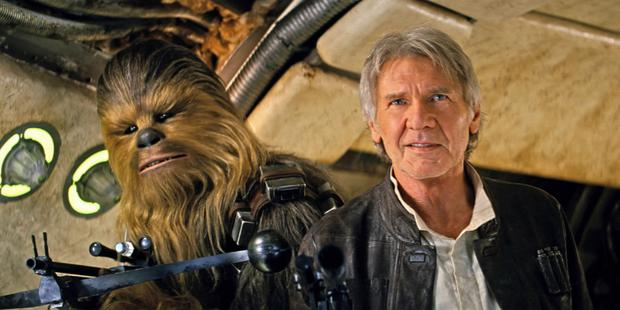 Flop stars: Harrison Ford (Han Solo) and Chewbacca in Star Wars: The Force Awakens