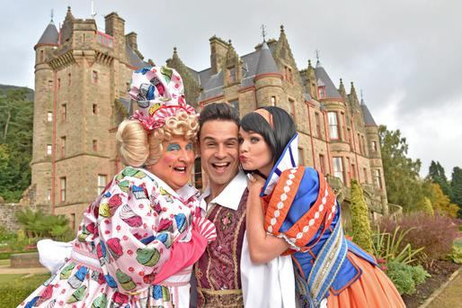 Star turns: May McFettridge, Chico and Lauren Nevin are currently appearing in Snow White and the Seven at the Grand Opera House, Belfast