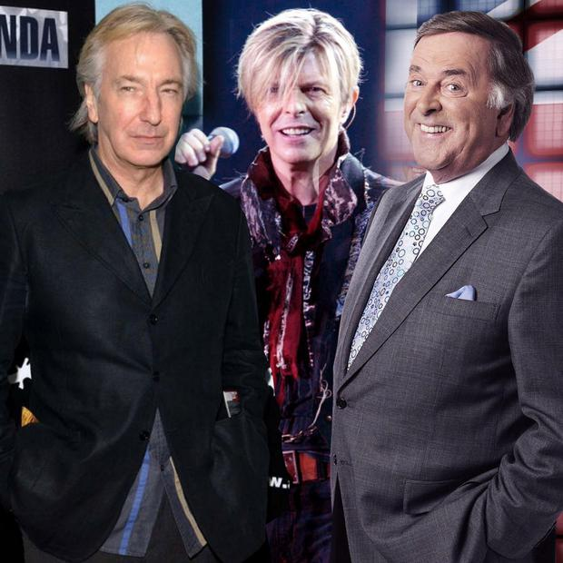 So sad: the passing on of (from left) Alan Rickman, David Bowie and Sir Terry Wogan gives pause for thought about our mortality