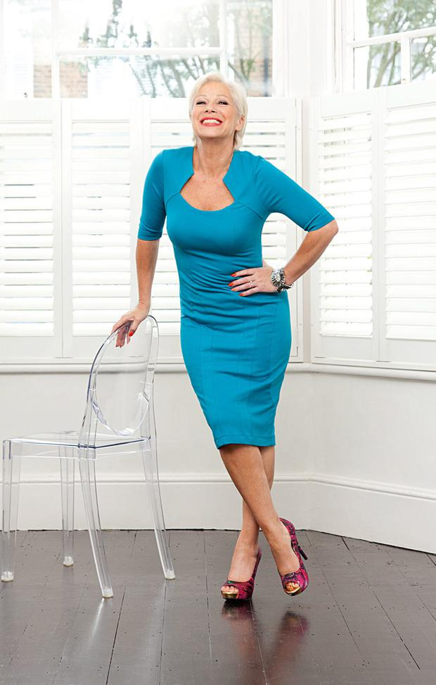 Standing tall: Denise Welch is much happier with her life now