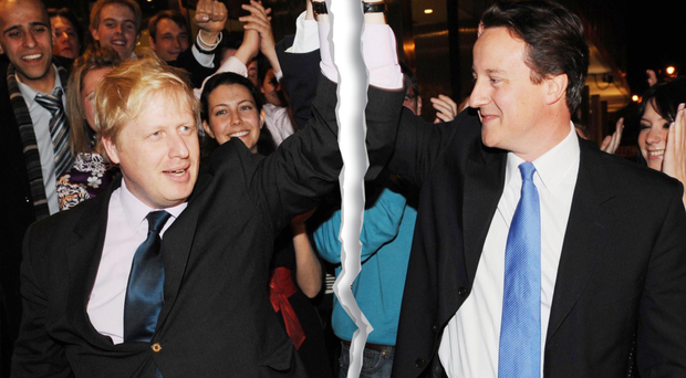 Old rivalries: Boris Johnson and David Cameron
