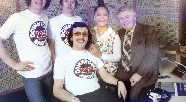 Talented team: from left, Michael 'Hendi' Henderson, Bill Smyth, Candy Devine, Derek Marsden and (front) Big T