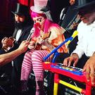 Stage drama: Madonna blubbed tears of a clown