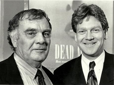 Old days: Eddie McIlwaine with Sir Ken Branagh