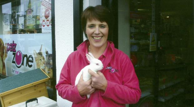 Hop to it: pet shop owner Karen Lavery