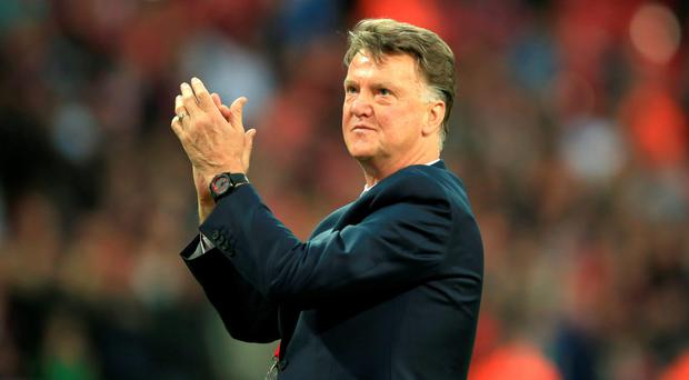 Final hand: Sacked United boss Louis Van Gaal