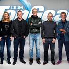 New faces: Top Gear's new team of presenters (from left), Rory Reid, Sabine Schmitz, Matt LeBlanc, Chris Evans, Chris Harris, Eddie Jordan and the Stig