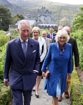 Prince Charles and Camilla during their visit to Northern Ireland