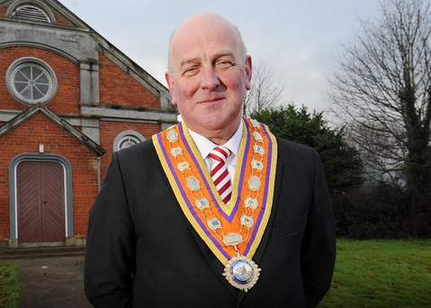 Orange Order Grand Master Edward Stevenson