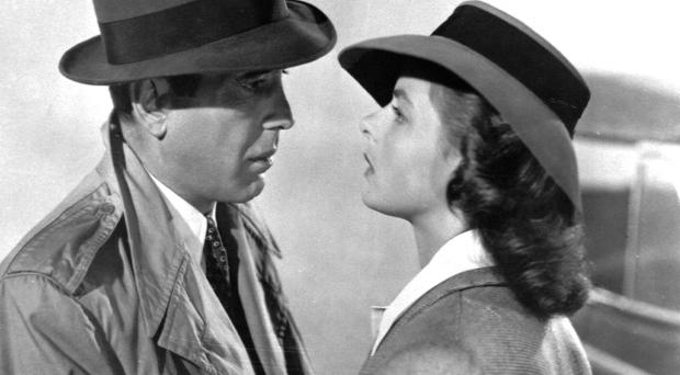 Screen gems: Humphrey Bogart and Ingrid Bergman in Casablanca