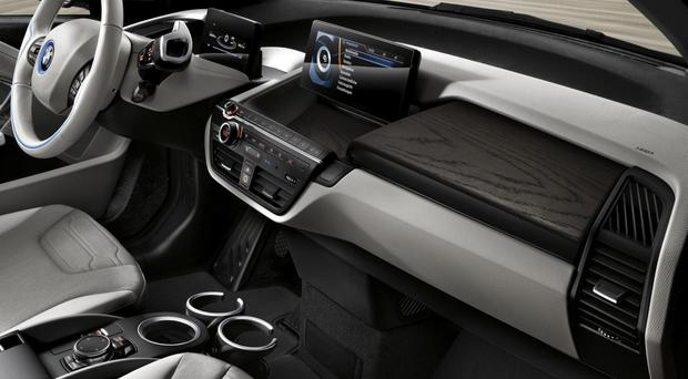 The compact and stylish interior of the BMV i3 comes equipped with the latest tech, including satnav, heated seats and climate control to make your journey as comfortable as possible