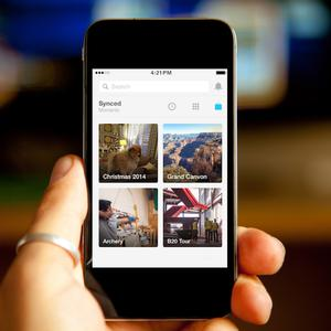 New look: the popular photo-syncing service has been transferred to a separate mobile app