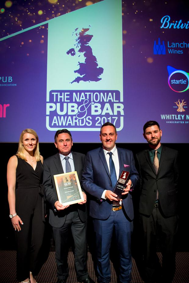 Mel Frazer-Reid, Startle; Stephen Magorrian, Managing Director of The Horatio Group; Gerard Keaney, Manager of The Northern Whig and Tristan O'Hana, Editor of Pub & Bar Magazine.