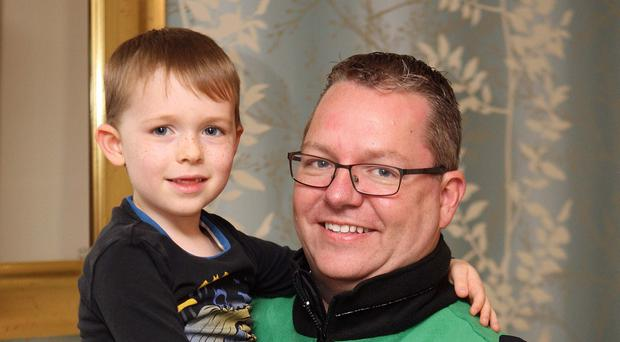 Brian Allen from Carryduff with his son Daniel