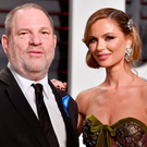 Shocking scandal: film producer Harvey Weinstein with his wife Georgina Chapman, who has left him in the wake of the allegations