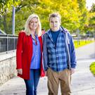 Battling on: Jo-Anne Dobson and her son Mark