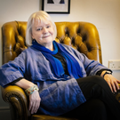 Author Sheila Llewellyn at Queen's University, Belfast