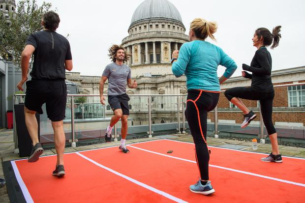 Training with Moe-Joe, a fitness audio show to help non-runners get ready for the London marathon