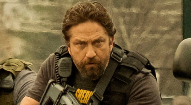 Action man: Gerard Butler in new movie Den of Thieves