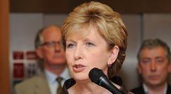 Changing times: Mary McAleese attacked the Catholic Church over the ban on women priests